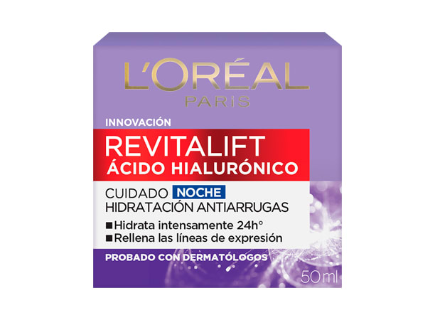 Crema de noche Revitalift Ácido Hialurónico L'Oréal Paris