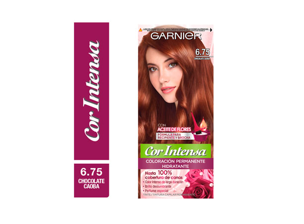 Tinte para Cabello 6.75 Chocolate Caoba Garnier Nutrisse Cor Intensa