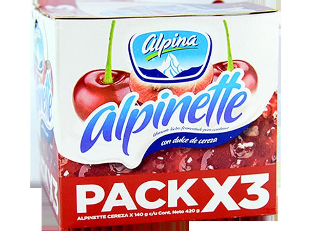 Alpinette Cereza 140gr Pack X 3 Unds