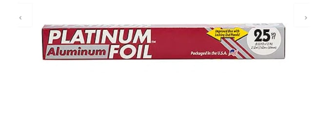 Platinum Papel Aluminio x 25sq ft