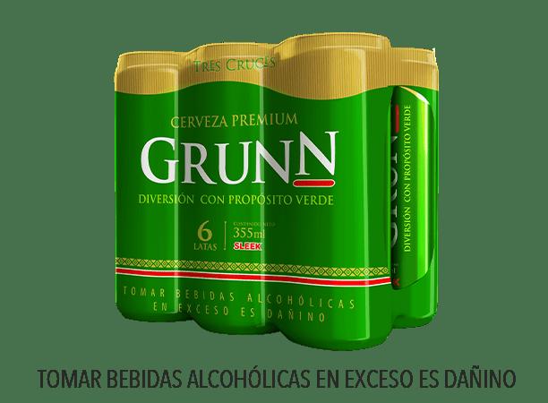 GRUNN CERVEZA REGULAR LATA 355 ML 6