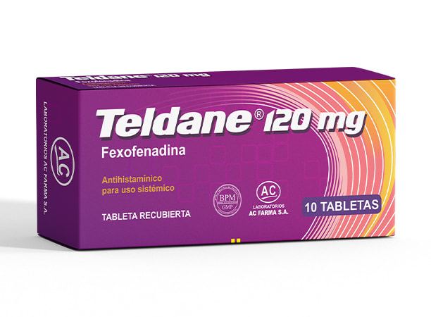 TELDANE 120 mg - FEXOFENADINA (Caja x 10 Tabletas)