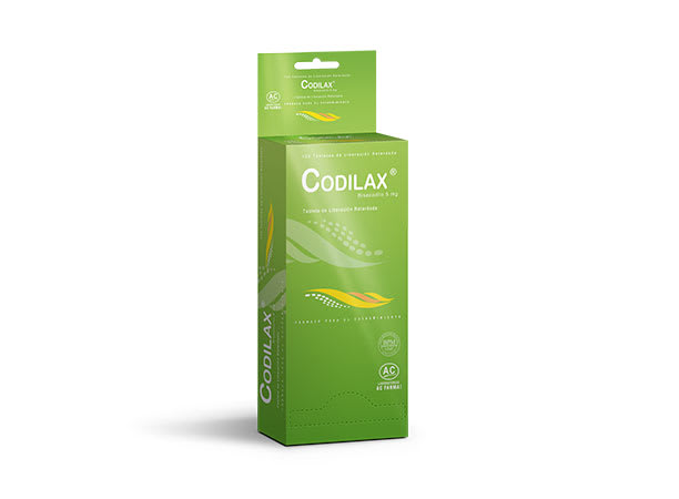 CODILAX 5 mg - BISACODILO (Caja x 120 Tabletas)