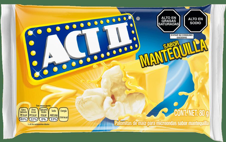 Act II Canchita para microondas Mantequilla