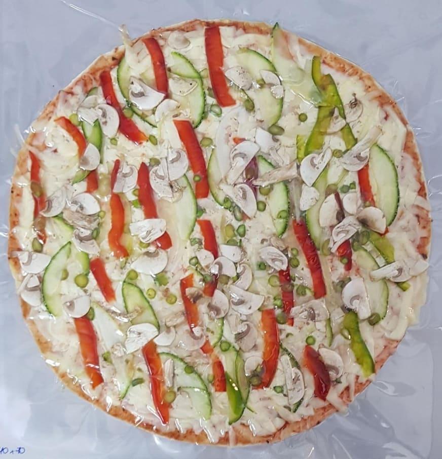 PIZZA VEGGIE (CEBOLLA BLANCA, PIMIENTO Y ZUCCHINI)