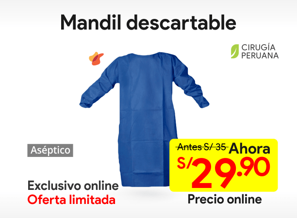 Mandil Descartable Talla M
