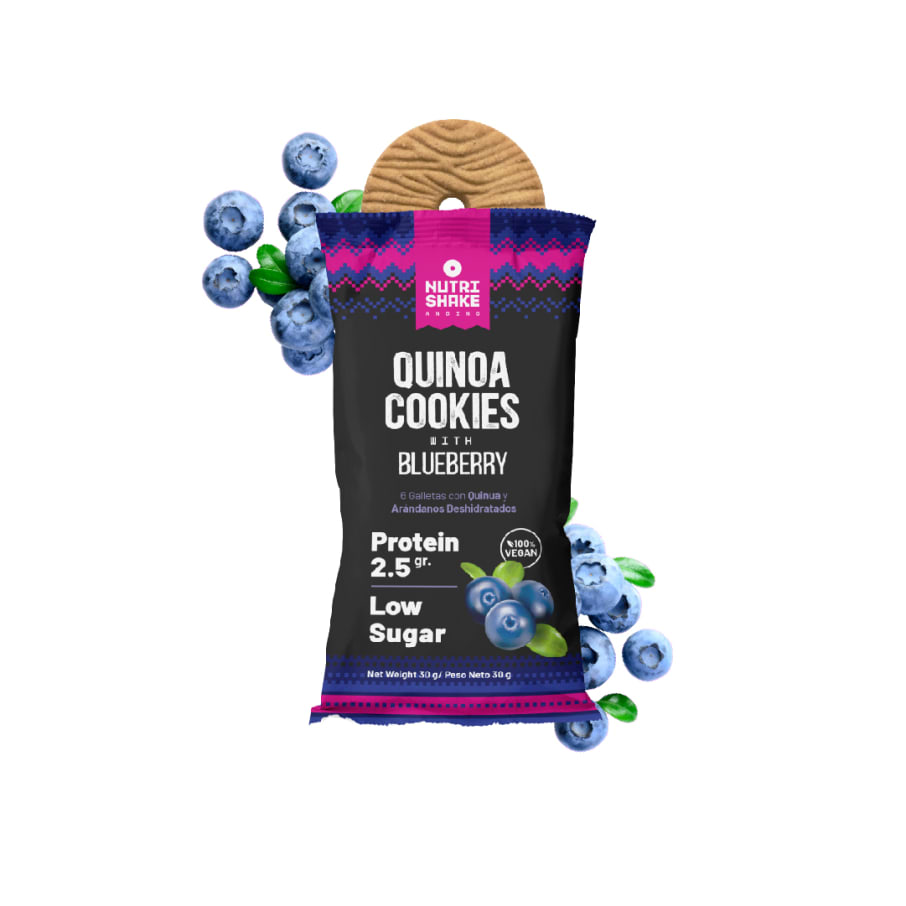 40 Blueberry Quinoa Cookies