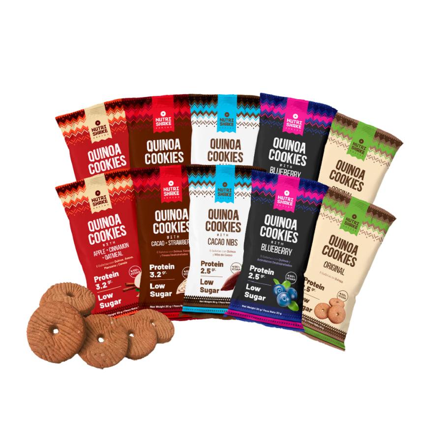 80 Quinoa Cookies - Sabores Surtidos