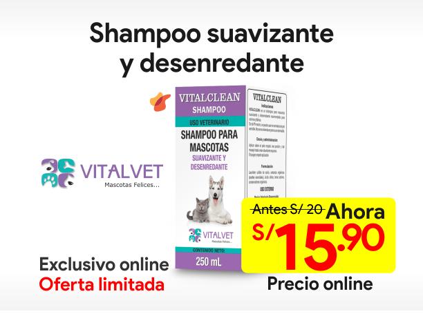 VITALCLEAN Shampoo Suavizante y Desenredante 250 ml