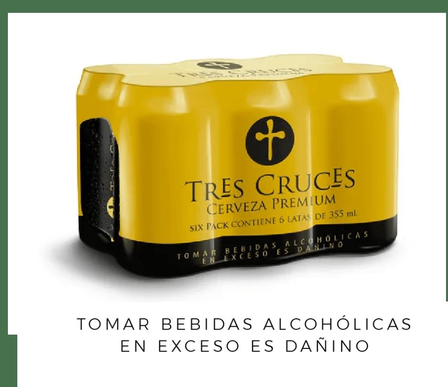 TRES CRUCES CERVEZA REGULAR LATA 355 ML 6