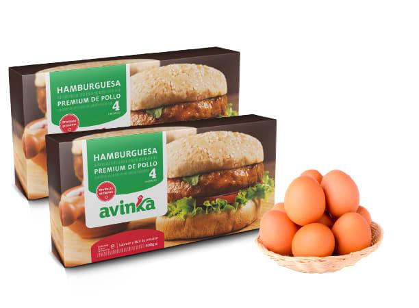 Combo: Huevos + 2Hamb x 4un