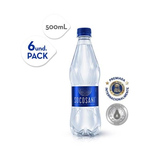 Socosani Agua mineral con gas 500 ml x6