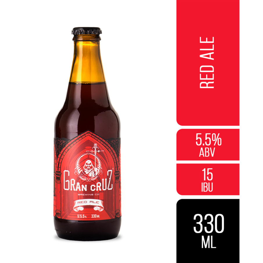 CERVEZA ARTESANAL RED ALE 330ML GRAN CRUZ