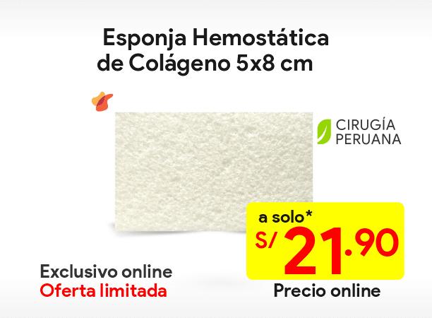 Esponja hemostática colágeno