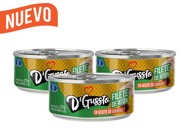 Filete de atún en aceite de girasol D'Gussto 170g