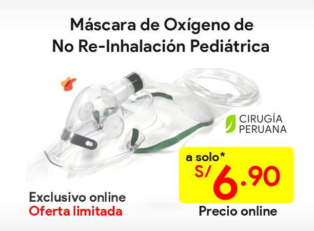 Máscaras de No Re-Inhalación Pediátrica
