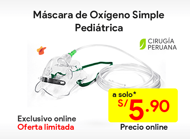 Máscara de Oxígeno Simple Pediátrica