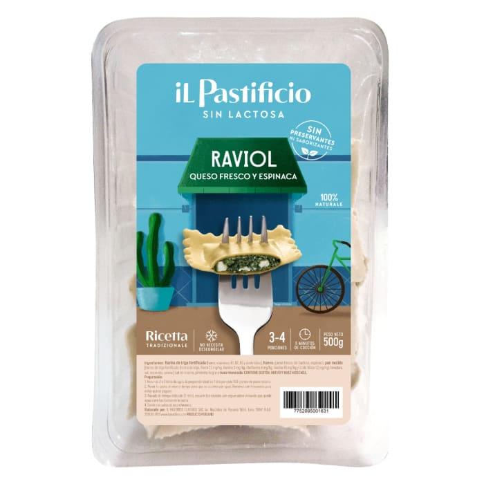 Raviol Queso fresco y Espinaca sin Lactosa
