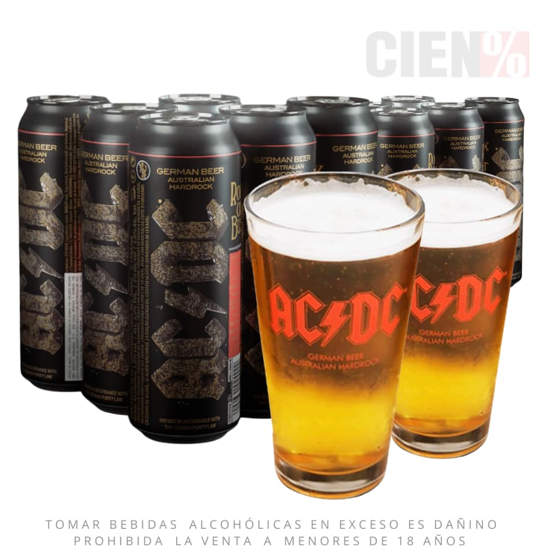 Cerveza ACDC : Pack 12 Latas de 568ML + 2 Vasos (DELIVERY GRATIS)