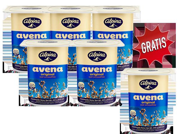 Promoción Avena vaso pague 5 lleve 6 x 250gr