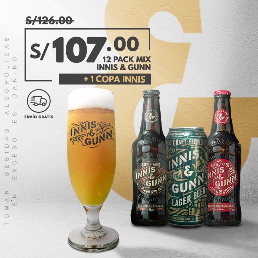 12 Pack Cerveza Innis Mix