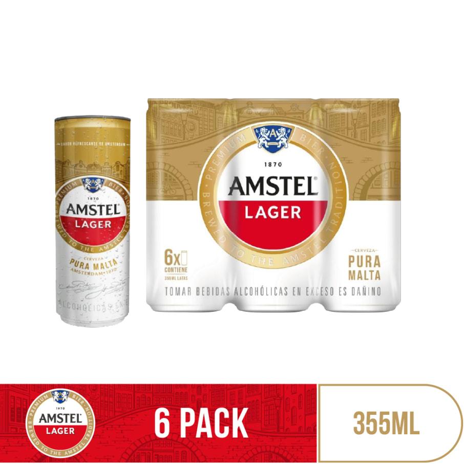 Cerveza Amstel Lager 355 ml