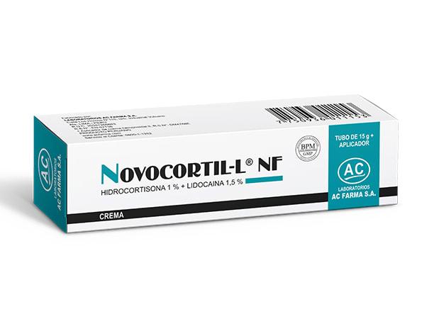 NOVOCORTIL-L NF 1%+ 1.5% HIDROCORTISONA + LIDOCAINA (Caja x 01 Tubo)