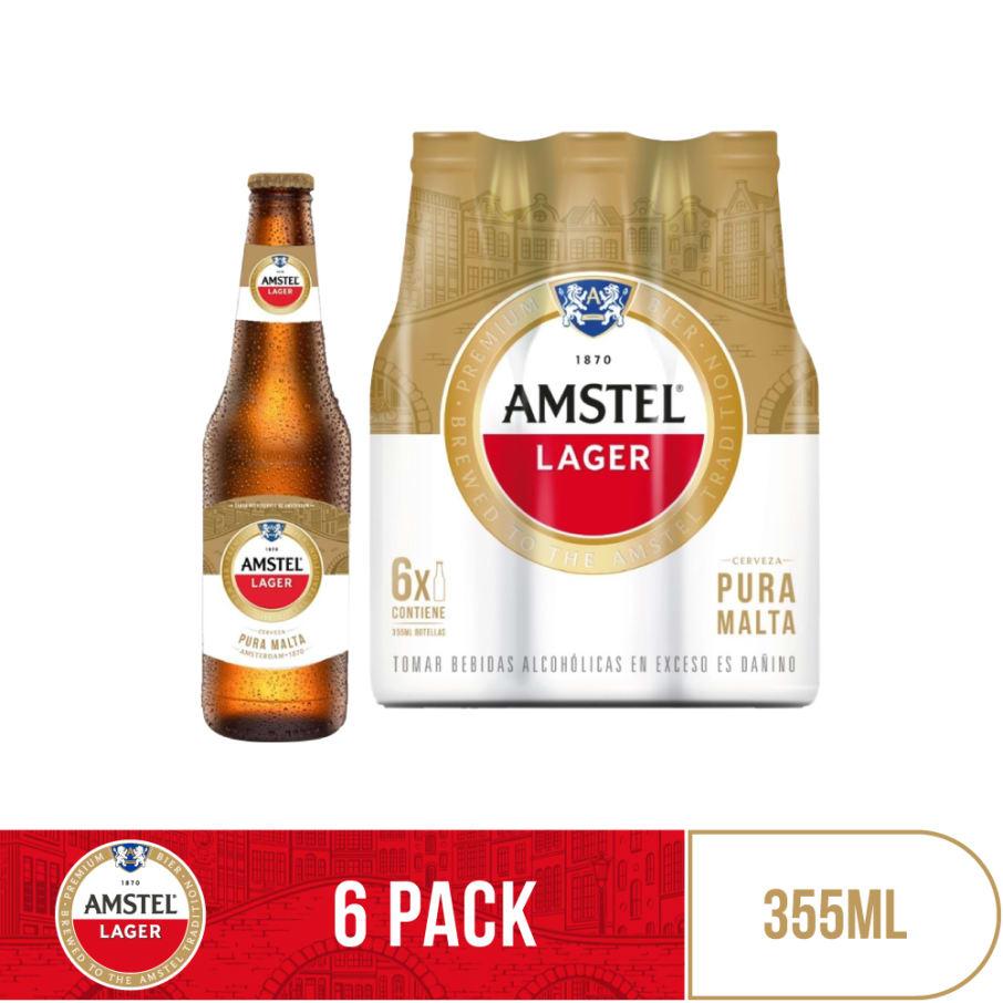 Cerveza Amstel Lager Botella 355ml