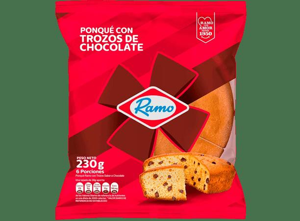 Ponque Ramo Trozos De Chocolate 230gr