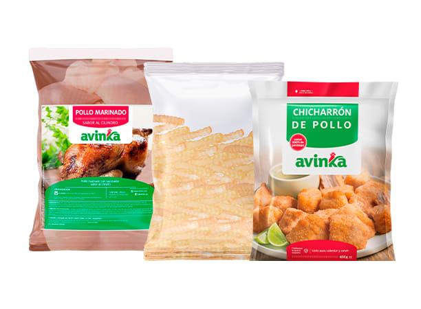Pollo Cilindro + Chicharrón + Papas