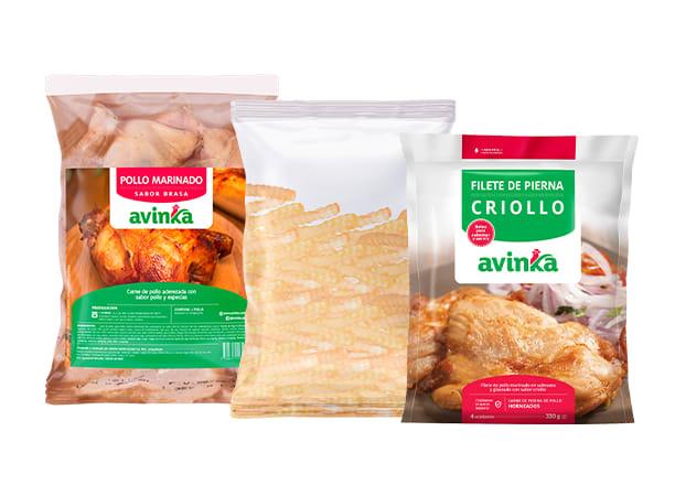 Pollo Sabor Brasa + Filete Criolla + Papas