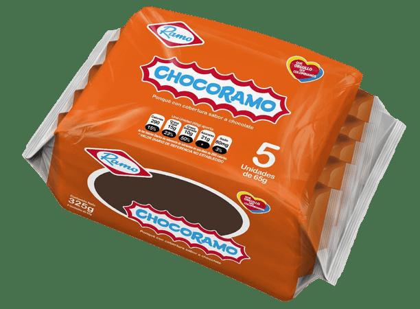 Chocoramo Tajada X 5 Unds De 65gr