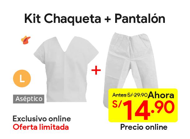 Kit Chaqueta + Pantalón Descartable Blanco Talla L