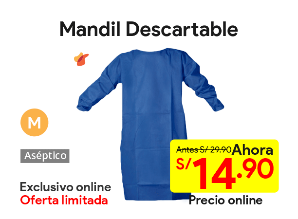 Mandil Descartable Talla M