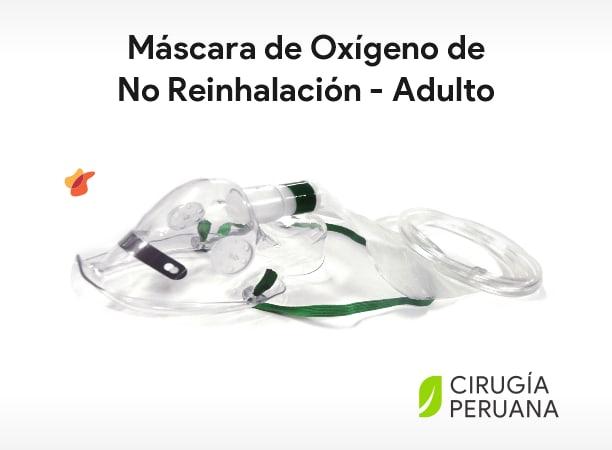 Máscaras de No Re-Inhalación Adulto