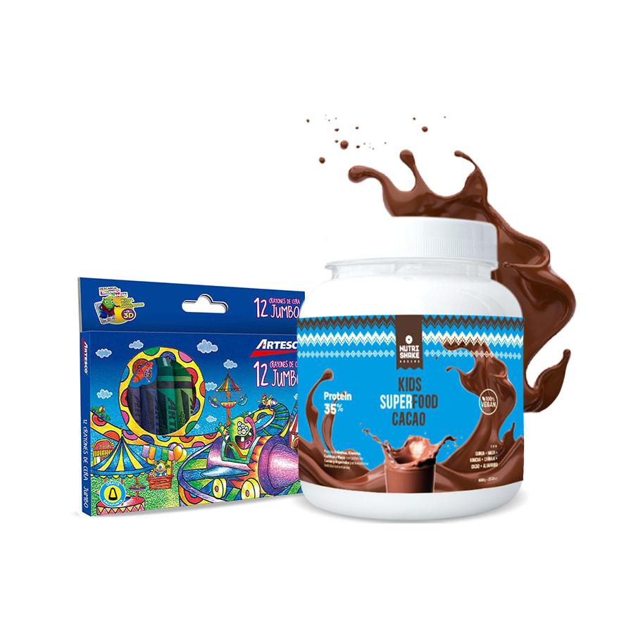 1 Kids Superfood + 1 Caja de Crayolas Artesco
