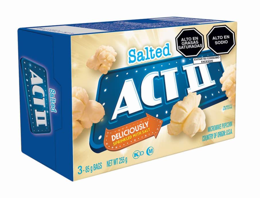 Act II Canchita para microondas 3PK Natural