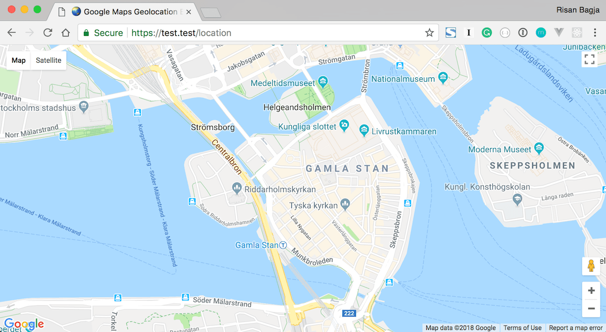 Our map is loaded on the page