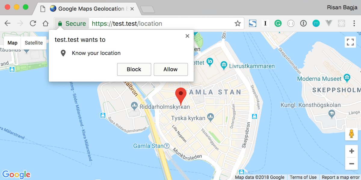 Permission to get your location