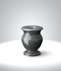ваза из темно-серого гранита