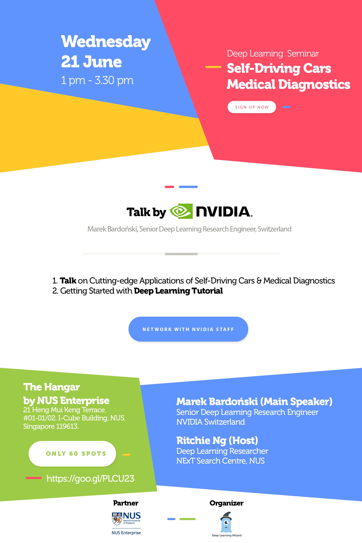 NVIDIA Self Driving Cars & Healthcare Talk, Singapore, June