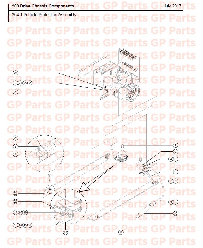 Genie Gs2046 Gs2646 Gs3246 Ground Strap 8lg 105060gt
