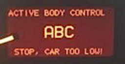mercedes abc stop car to low