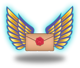 A winged letter