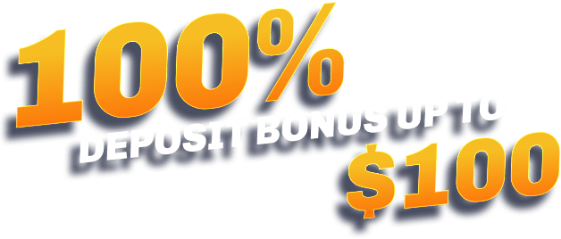 100% deposit bonus up to $100