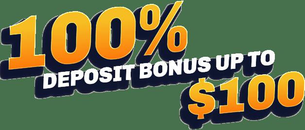 100% deposit bonus up to $100