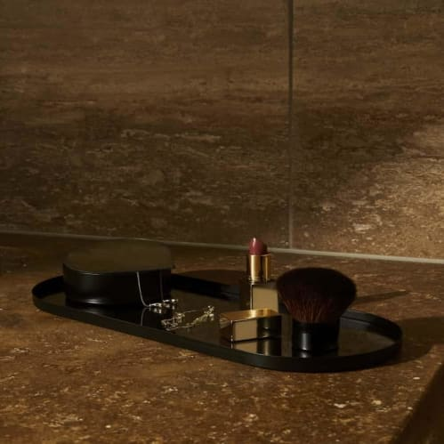 Margo Mirror Tray Small - Black