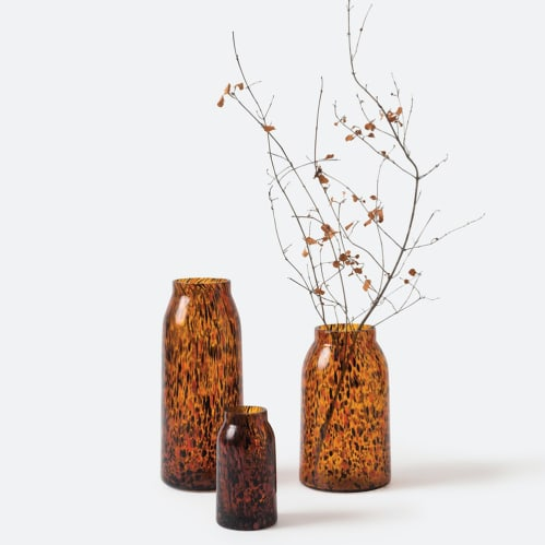 Otto Vase Large - Amber Speckle