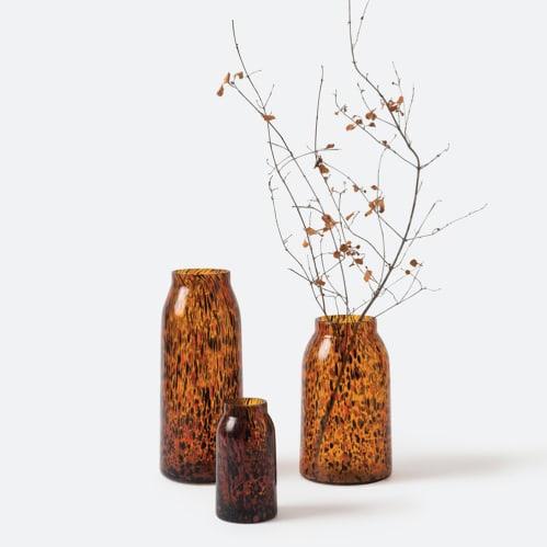 Otto Vase Medium - Amber Speckle
