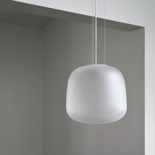 AB Large Pendant - Frosted Clear
